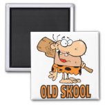 funny old school skool caveman cartoon fridge magnets