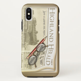 Funny Old Style Newspaper Journalist iPhone X Case