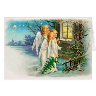 Funny Old Time Christmas Greeting Card