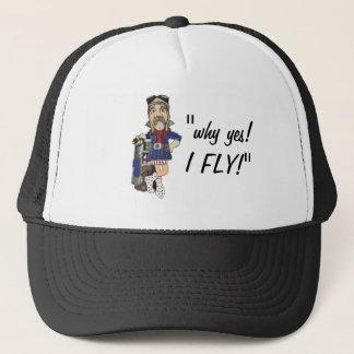Funny Old-Timey Pilot Flight Fan - Trucker Hat