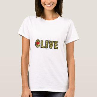 Funny Olive Heart Green Olives Typography Food T-Shirt
