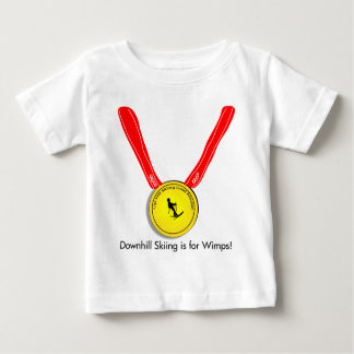 Funny Olympic Downhill Skiing Design Baby T-Shirt