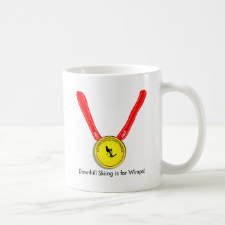 Funny Olympic Downhill Skiing Design Mugs