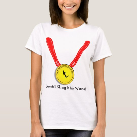 Funny Olympic Downhill Skiing Design T-Shirt