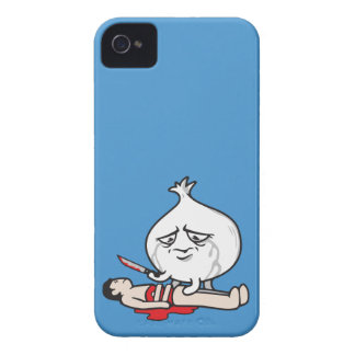 Funny Onion Crying, Cutting Human iPhone 4 Case-Mate Case