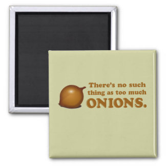 Funny Onions 2 Inch Square Magnet