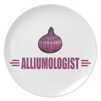 Funny Onions Melamine Plate