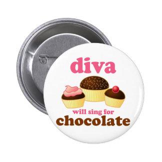 Funny Opera Diva Pinback Button