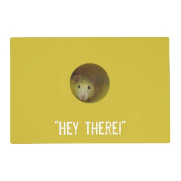 Beach Themed Funny Optical Illusion Rat in Hole Placemat