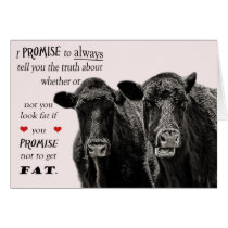 Funny or humorous Cow Valentine's Day Card