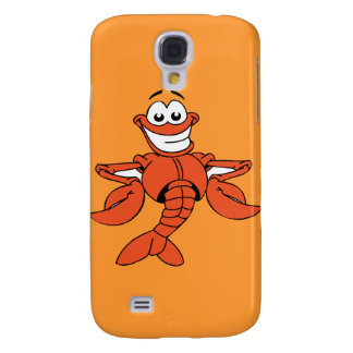 Funny ORANGE CARTOON LOBSTER smiling happy fun Galaxy S4 Covers