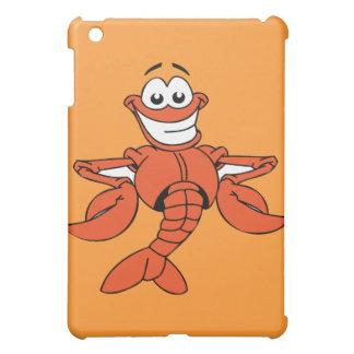 Funny ORANGE CARTOON LOBSTER smiling happy fun iPad Mini Case