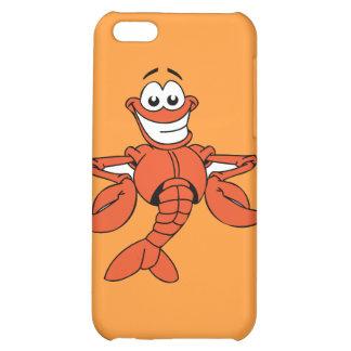 Funny ORANGE CARTOON LOBSTER smiling happy fun Case For iPhone 5C