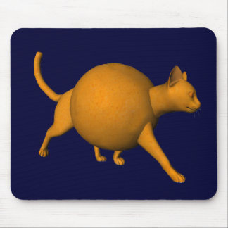 Funny Orange Cat Mouse Pad