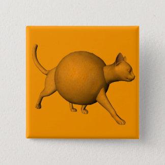 Funny Orange Cat Pinback Button