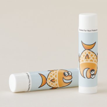 Beach Themed funny orange fish lip balm