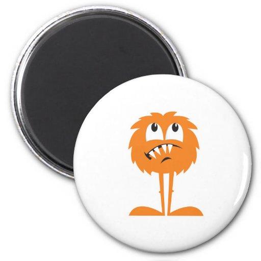 funny orange furry monster refrigerator magnets