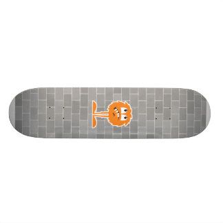funny orange furry monster skateboard deck