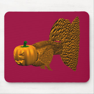 Funny Orange Guppy Mouse Pad