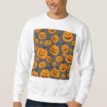 Funny Orange Halloween Pumpkins Pattern Sweatshirt