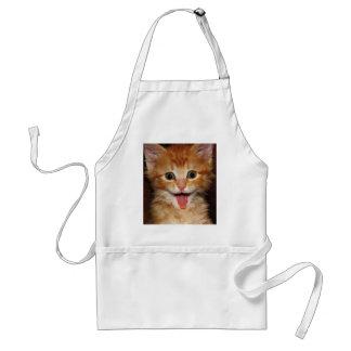 Funny Orange kitty face Adult Apron