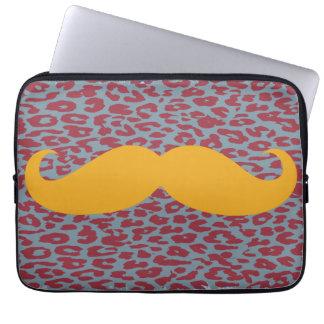 Funny Orange Mustache Laptop Computer Sleeves