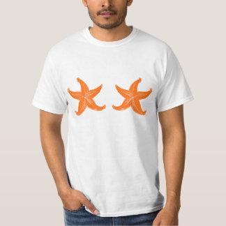 Funny Orange Summer Starfish Tee Shirts