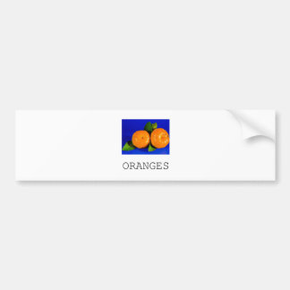 Funny Oranges Design Bumper Sticker