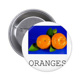 Funny Oranges Design Button