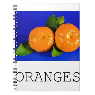 Funny Oranges Design Spiral Notebook