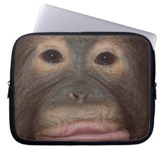 Funny Orangutan Face Laptop Sleeve