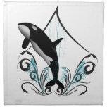 Funny orca printed napkin