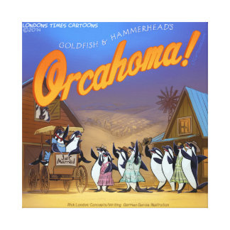 Funny Orca Whale Musical Theater Canvas Print