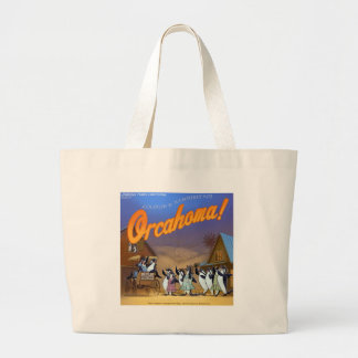 Funny Orca Whale Theater Large Tote Bag