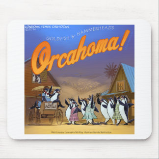 Funny Orca Whale Theater Mousepad