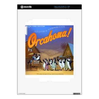 Funny Orca Whale Theater Decals For iPad 2