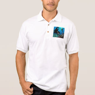 Funny orcas polo t-shirt