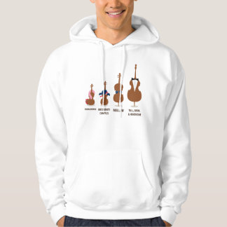 Funny Orchestra Strings Instruments Hoodie
