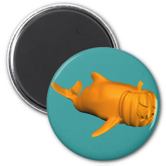 Funny Orcinus orca 2 Inch Round Magnet