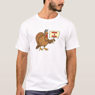 Funny Order A Pizza Thanksgiving Turkey T-Shirt