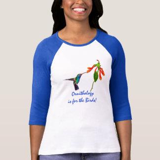 Funny Ornithology Hummingbird Ladies Fashion Shirt