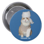Funny Orthopedic Cat 3 Inch Round Button
