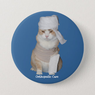Funny Orthopedic Cat Button