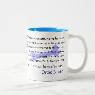 Funny Orthopedic Nurse Gifts Two-Tone Coffee Mug