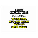 Funny Orthopedic Surgeon T-Shirts and Gifts Post Card