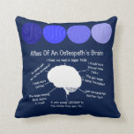 Funny Osteopath's Brain Pillow Blue