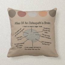 Funny Osteopath's Brain Pillow Brown