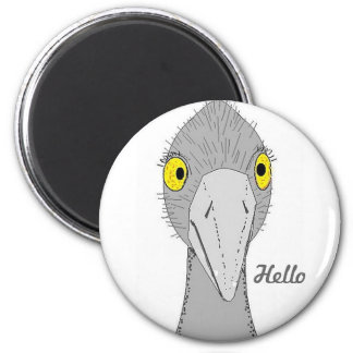 Funny Ostrich 2 Inch Round Magnet
