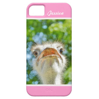 Funny Ostrich - Girly Name iPhone 5 Case