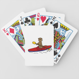 Funny Otter Kayaking Bicycle Playing Cards
